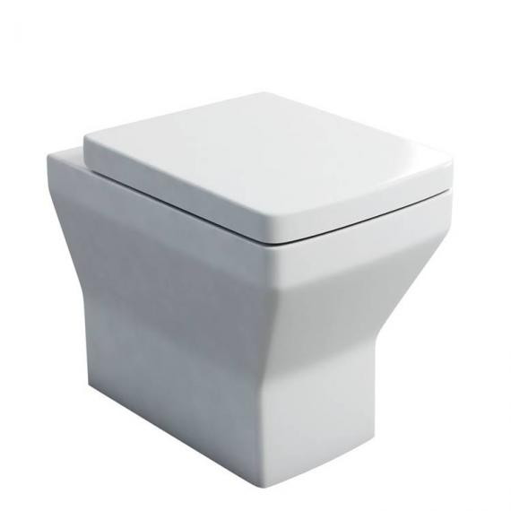 Britton Cube Back To Wall Pan & Soft Close Seat