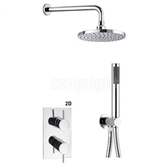 Crosswater Kai Lever Shower Valve Pack With Fixed Head & Handset