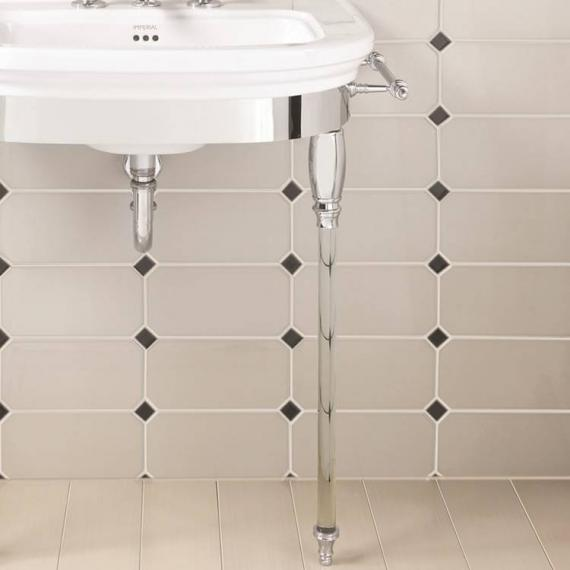 Imperial Carlyon Large Basin Stand With Glass Legs Detail