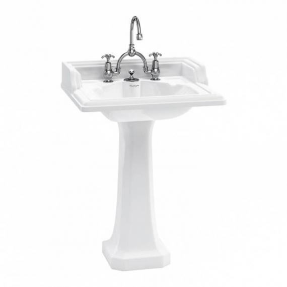 Burlington Classic Basin & Low Level Toilet Set - Image 4