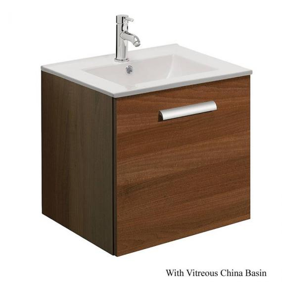 Bauhaus Design Plus 50 Drawer Walnut Vanity Unit & Ceramic Basin