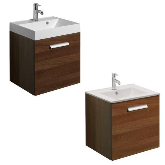 Bauhaus Design Plus 50 Drawer Walnut Vanity Unit & Basin