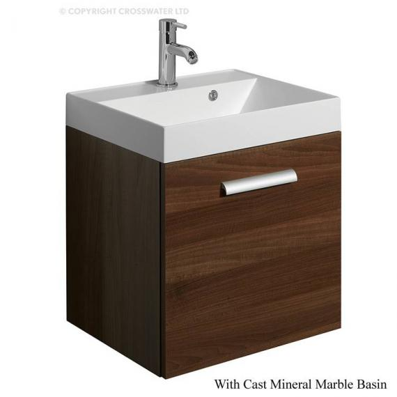 Bauhaus Design Plus 50 Drawer Walnut Vanity Unit & Cast Mineral Basin