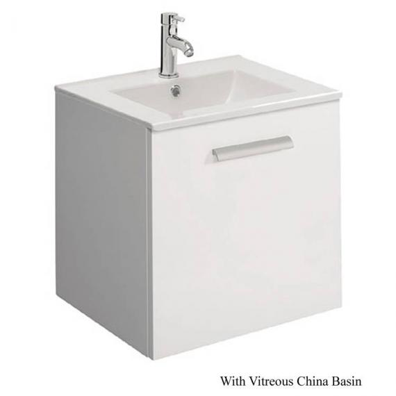 Bauhaus Design Plus 50 Drawer White Gloss Vanity Unit & Ceramic Basin