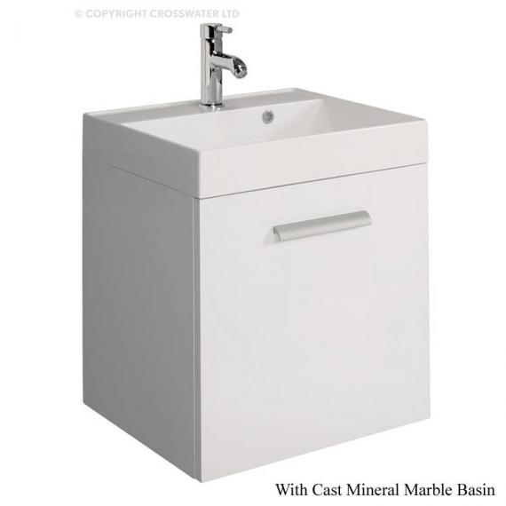 Bauhaus Design Plus 50 Drawer White Gloss Vanity Unit & Mineral Basin