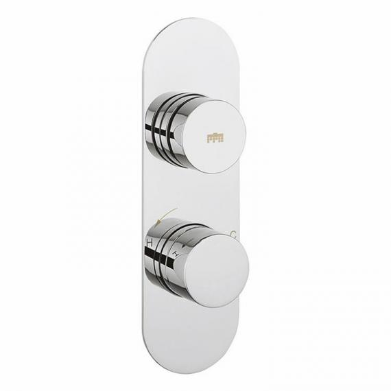 Crosswater Dial 1 Control Shower Valve With Central Trim & Ethos Slider Rail