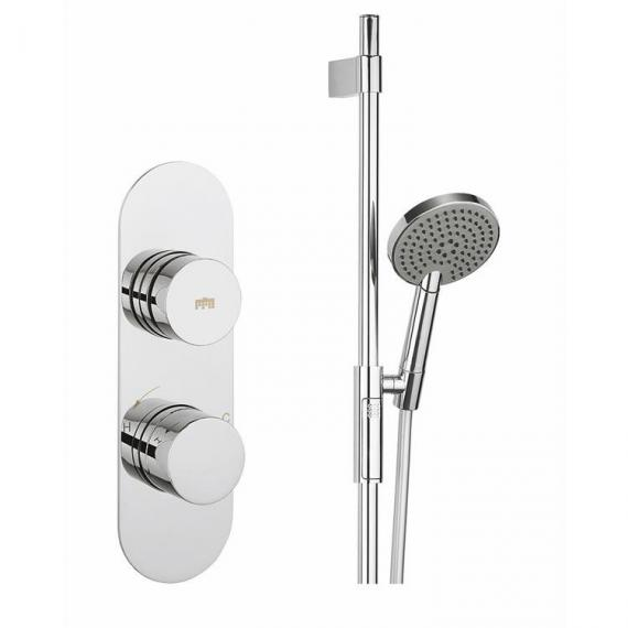 Crosswater Dial 1 Control Shower Valve With Central Trim & Slider Rail Kit