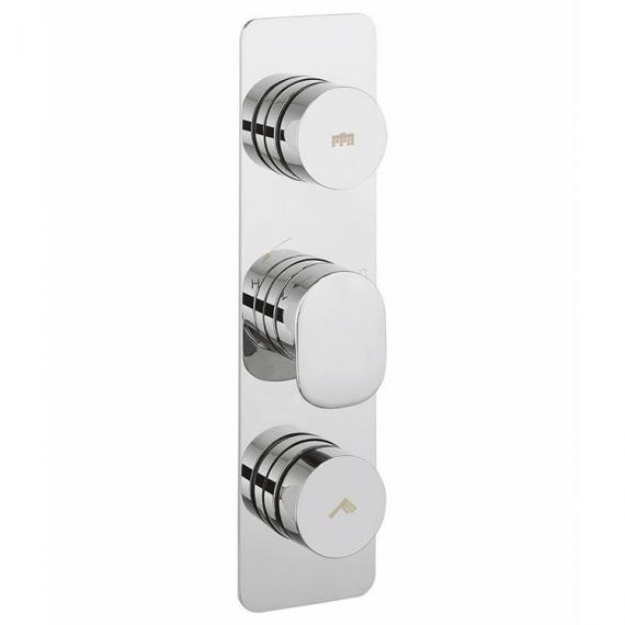 Crosswater Dial Portrait Shower Valve 2 Control With Pier Trim
