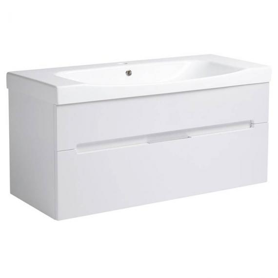 Roper Rhodes Diverge Gloss White 1000mm Wall Mounted Unit & Basin