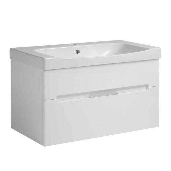 Roper Rhodes Diverge Gloss White 800mm Wall Mounted Unit & Basin
