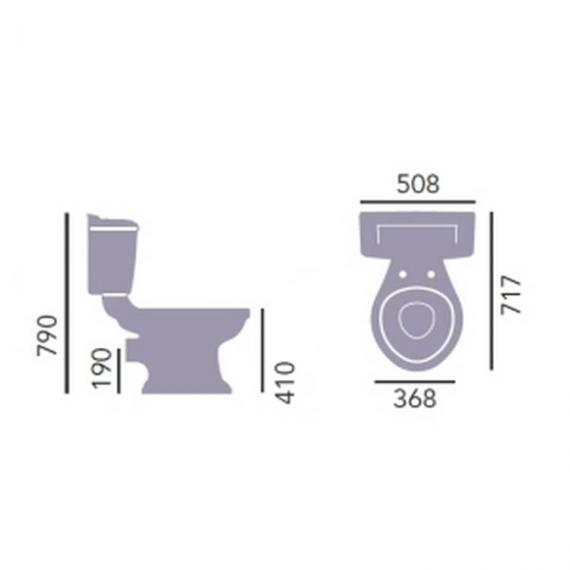 Heritage Dorchester Close Coupled WC & Cistern Specification