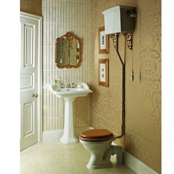 Heritage Dorchester High Level Toilet & Square Basin Set