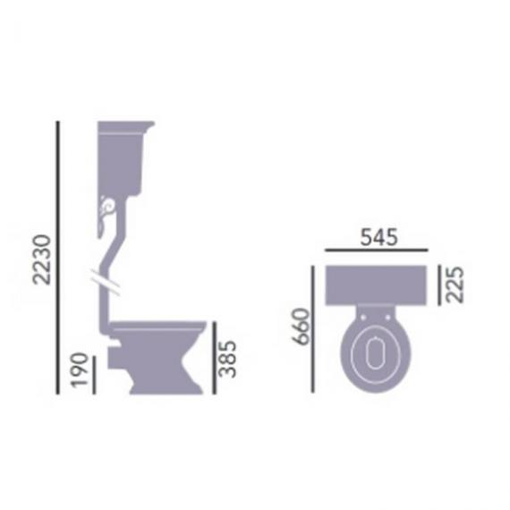 Heritage Dorchester High Level Toilet  Specification