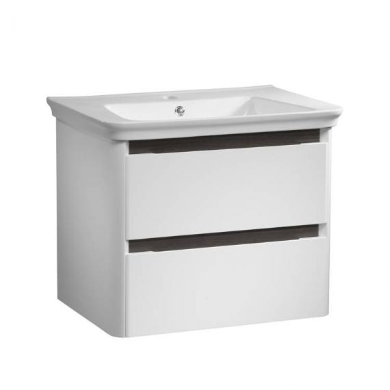 Tavistock Equate White & Grey Oak 700mm Wall Mounted Unit & Basin - Image 4