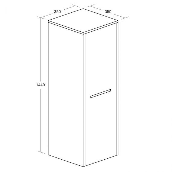 Bauhaus Essence Anthracite Tower Storage Unit Specification