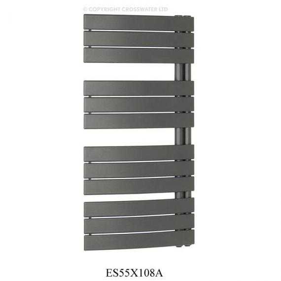 Bauhaus Essence Anthracite 550 x 1080mm Curved Flat Panel Towel Rail