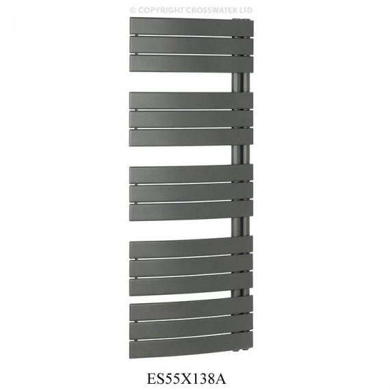 Bauhaus Essence Anthracite 550 x 1380mm Curved Flat Panel Towel Rail