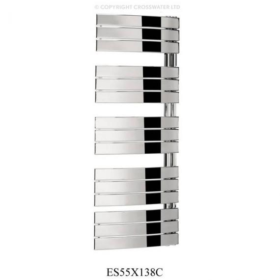 Bauhaus Essence 550 X 1380mm Curved Flat Panel Towel Rail