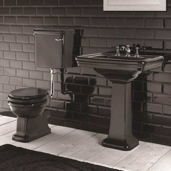Imperial Etoile Black Low Level Toilet & Basin Set