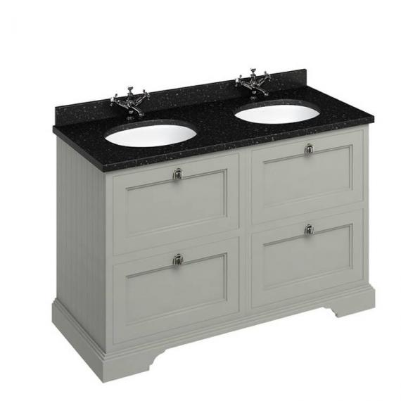 Burlington Olive 1300mm Double Vanity Unit With Drawers, Worktop & Basin - Image 5