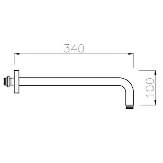 Crosswater Nickel Wall Mount Shower Arm Specification