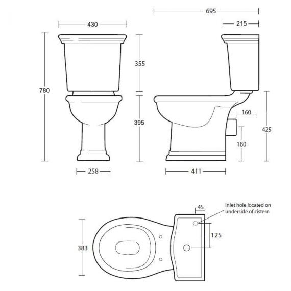 Imperial Firenze Close Coupled Pan and Cistern Specification