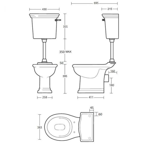 Imperial Firenze Low Level Pan and Cistern Specification