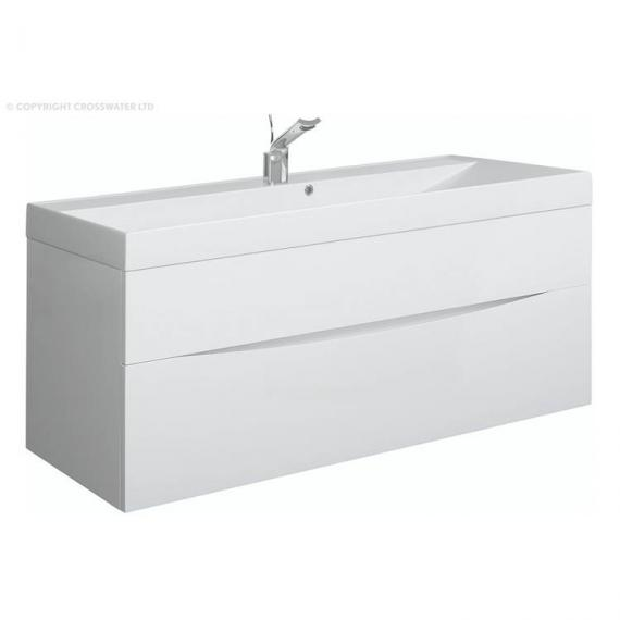 Bauhaus Glide II 100 White Gloss Vanity Unit & Basin