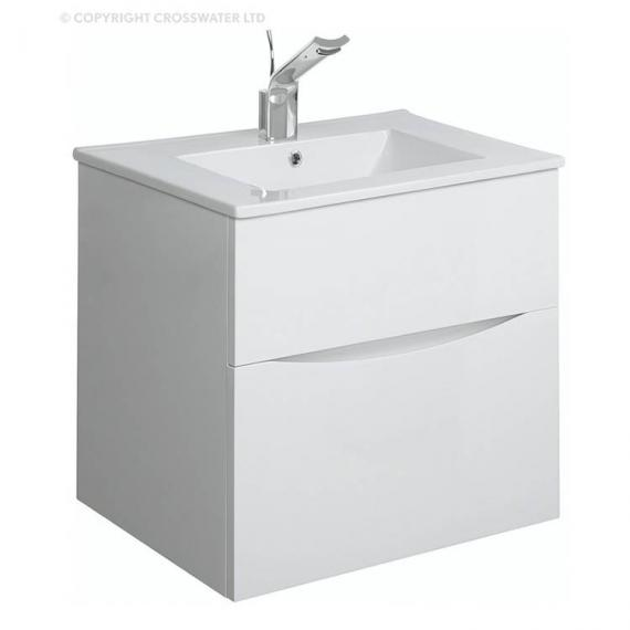 Bauhaus Glide II 50 White Gloss Vanity Unit & Basin