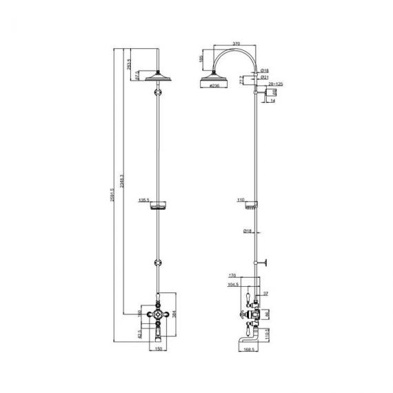 T1505580600Burlington Avon Exposed Thermostatic Shower Valve Kit With 6