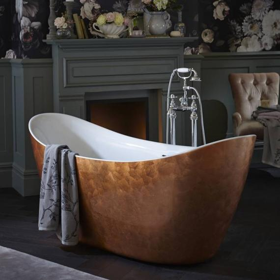 Heritage Hylton Copper Effect Freestanding Acrylic Bath