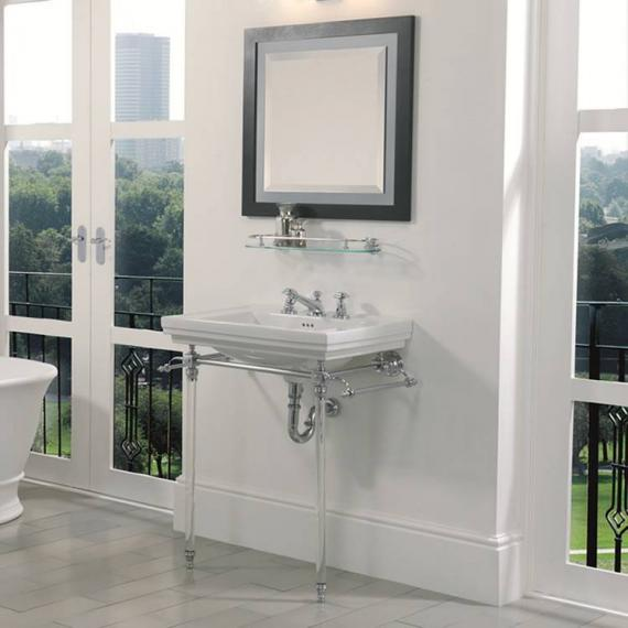 Imperial Hardwick Astoria Deco Basin Stand with Glass Legs