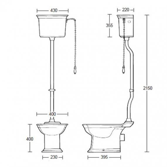 Imperial Westminster High Level Pan and Cistern Specification