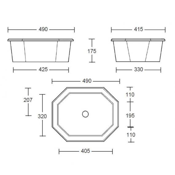 Imperial Astoria Deco Inset Basin Specification
