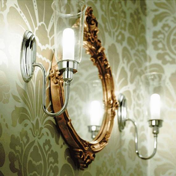 Imperial Avila Wall Light With Glass Shade