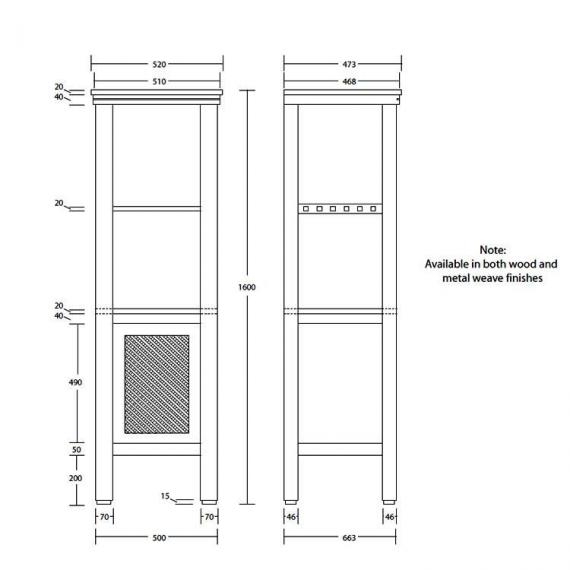 Imperial Astoria Deco Harmony Tall Unit Specification
