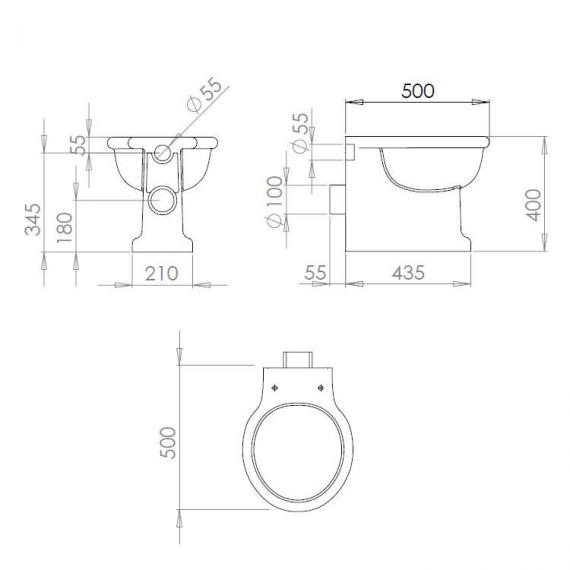 Imperial Etoile Back To Wall Pan Specification