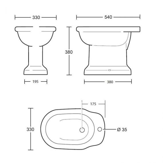 Imperial Etoile Bidet Specification