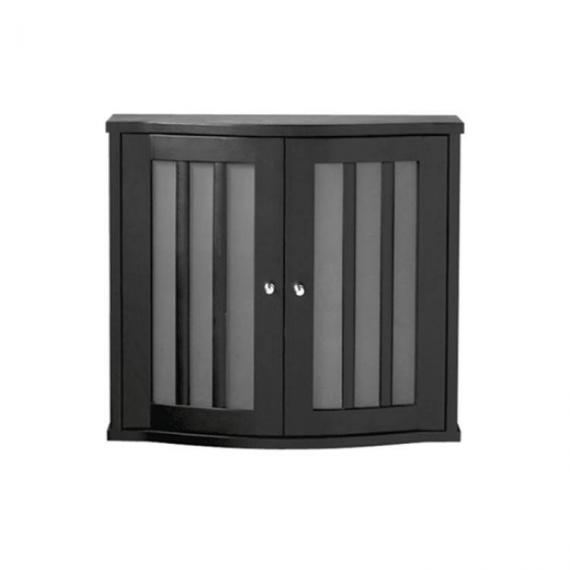 Imperial Linea Wenge Wall Cabinet With 2 Curved Glass Doors
