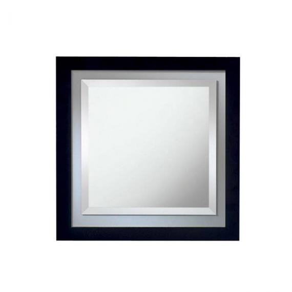Imperial linea wenge mirror with opaque glass border for Miroir wenge