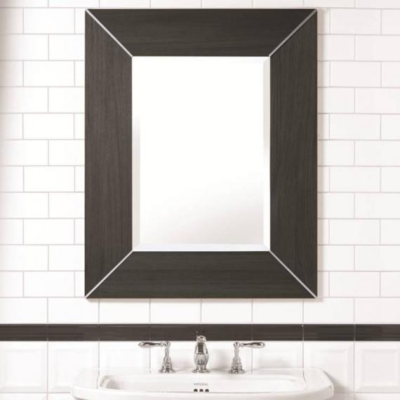 Imperial Rebecca Wenge Luxury Mirror with Metal Strips