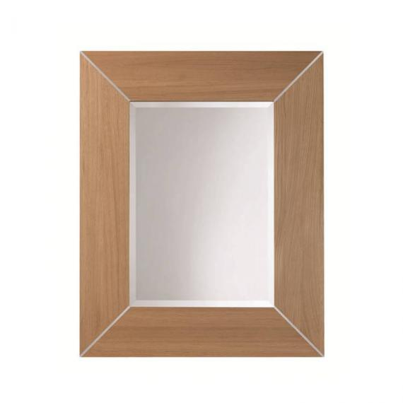 Imperial Rebecca Oak Luxury Mirror with Metal Strips