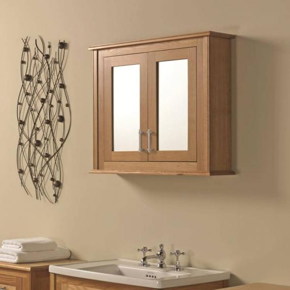 Imperial Thurlestone Wall Cabinet With 2 Mirror Glass Doors