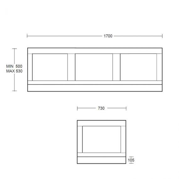 Imperial Thurlestone Bath End Panel Specification