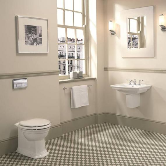Imperial Westminster Medium Basin and Semi Pedestal - Spec