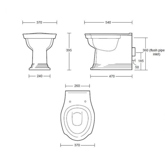 Imperial Westminster Back To Wall Toilet Specification
