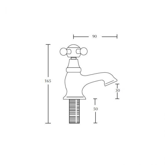 Imperial Westminster Basin Pillar Taps Specification