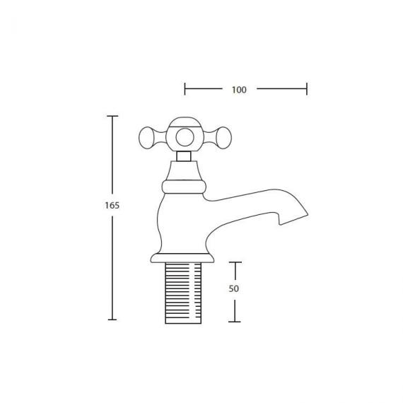 Imperial Westminster Bath Pillar Taps Specification