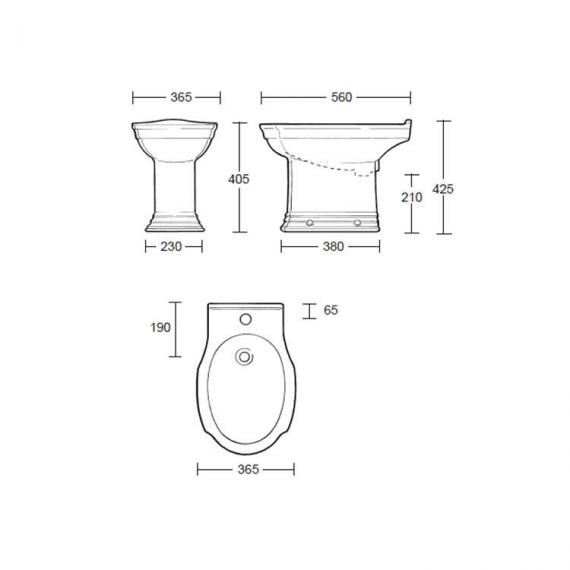 Imperial Westminster Bidet Specification