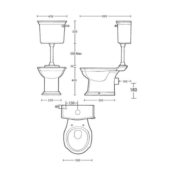 Imperial Westminster Low Level Pan & Cistern Specification